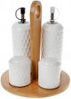 Набор для специй Nouvelle Home Blob 4 предмета: масло/уксус, соль/перец на подставке
