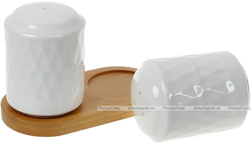 Набір для спецій Nouvelle Home Blob 12.6х7х7.2см, фарфор з бамбуком