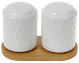 Набор для специй Nouvelle Home Blob 12.6х7х7.2см, фарфор с бамбуком
