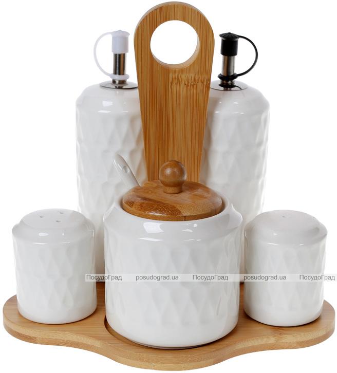 Набор для специй Nouvelle Home Blob: масло/уксус, соль/перец + сахарница, на подставке