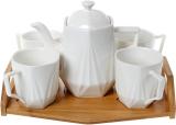 Чайный набор Nouvelle Home Coutle чайник 900мл и 4 кружки 320мл на подносе