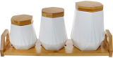 Набор банок для специй Nouvelle Home Coutle 3 банки 800мл, 450мл, 330мл на подставке