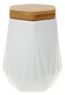 Банка Ceram-Bamboo 800мл для сыпучих продуктов, белый фарфор