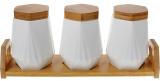 Набор банок для специй Nouvelle Home Coutle 3 банки 450мл на подставке