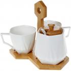 Кофейный набор Nouvelle Home Coutle 2 чашки 170мл и сахарница 330мл на подставке