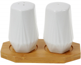 Набір для спецій Nouvelle Home Coutle 13х6.5х8.5см, фарфор з бамбуком
