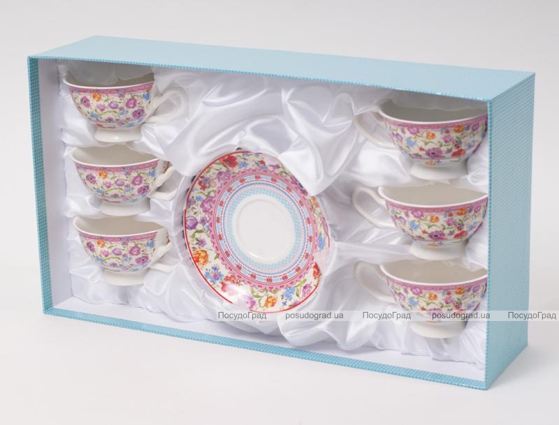 """Кофейная пара """"Летний луг""""-119 чашка 180мл с блюдцем в подарочной коробке"""