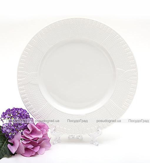 """Набор 6 обеденных тарелок """"Вязаный узор"""" Ø25.5см, фарфор"""