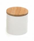 """Банка """"Вязаный узор"""" для сыпучих продуктов 600мл с бамбуковой крышкой"""