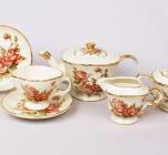 Чайный сервиз Cream Rose 220мл 15 предметов на 6 персон