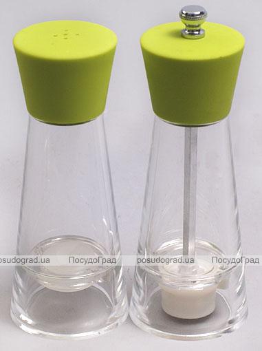 Набор Bona Spices Green Acrylic солонка и мельница 15см