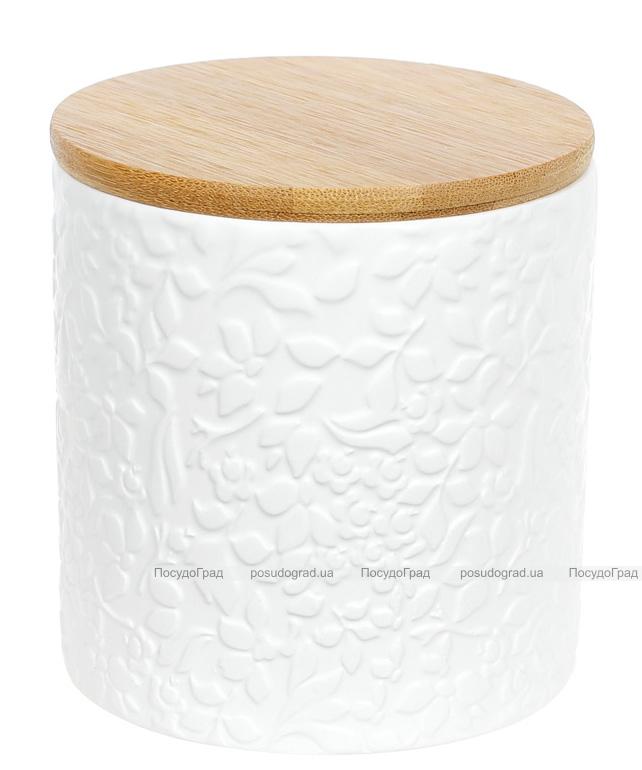 """Банка Merceyl """"Жасмин"""" 550мл керамічна з бамбуковою кришкою"""