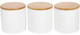 """Набір банок Merceyl """"Лінії"""" 3 банки по 550мл керамічні з бамбуковими кришками"""