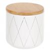 """Банка Merceyl """"Золоті Ромби"""" 350мл керамічна з бамбуковою кришкою, біла"""