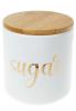 Банка Merceyl «Sugar» 550мл керамическая с бамбуковой крышкой, белая