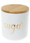 """Банка Merceyl """"Sugar"""" 550мл керамічна з бамбуковою кришкою, біла"""