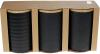 Набір 3 керамічні банки «Modern» Black Style 800мл з бамбуковими кришками