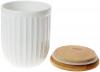 Банка керамическая «Corrugation» White Style 700мл с бамбуковой крышкой