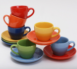 Набор кофейный SABO Color 100мл 6 чашек и 6 блюдец