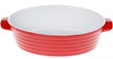 Форма для випічки Augsburg керамічна 28х18х7.5см овальна з ручками (червона)