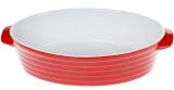 Форма для выпечки Augsburg керамическая 35х22х8.5см овальная с ручками (красная)