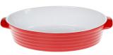 Форма для випічки Augsburg керамічна 37х23х8.5см овальна з ручками (червона)