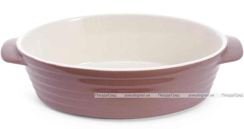 Форма для выпечки Augsburg керамическая 28х18х7.5см овальная с ручками (какао)
