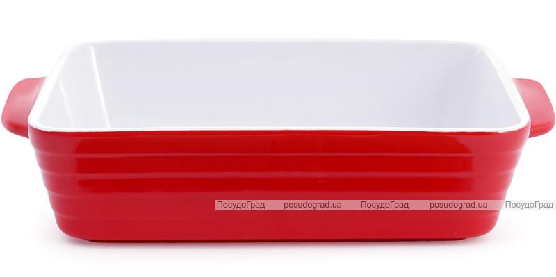 Форма для выпечки Augsburg керамическая 27х17х6.5см с ручками (красная)