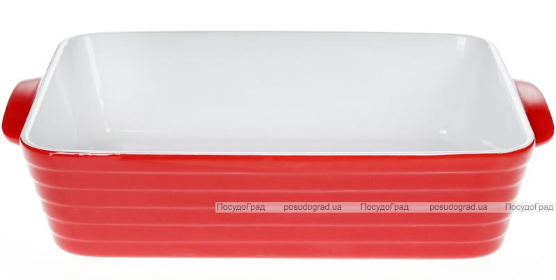 Форма для выпечки Augsburg керамическая 35х24х8.5см с ручками (красная)