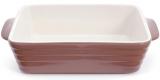 Форма Augsburg прямокутна для випічки 24х15.5х6.3см керамічна (какао)