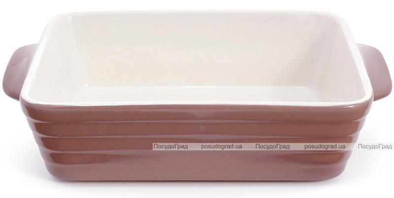 Форма Augsburg прямоугольная для выпечки 24х15.5х6.3см керамическая (какао)