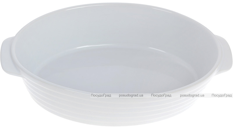 Форма Augsburg овальная для выпечки 35х22х8.5см керамическая (белая)