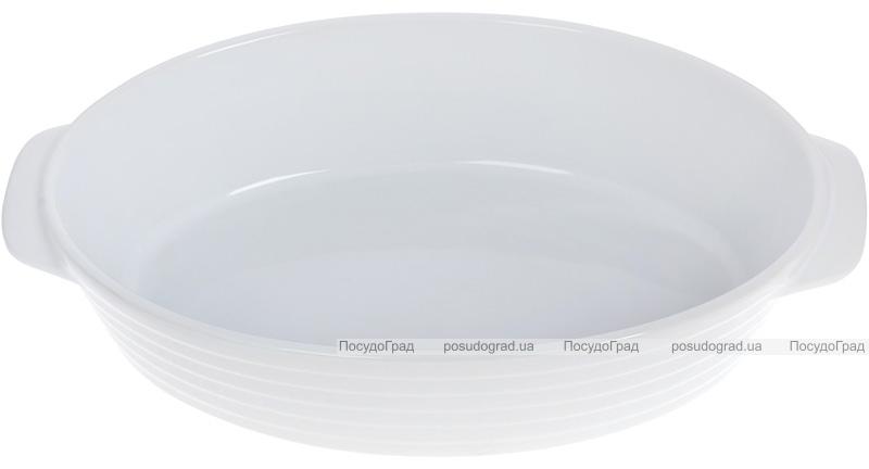 Форма Augsburg овальная для выпечки 37х22.5х8.5см керамическая (белая)