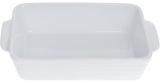 Форма Augsburg прямоугольная для выпечки 27х17х6.5см керамическая (белая)