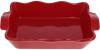 """Форма Augsburg """"Хвиля"""" прямокутна для випічки 38х23х8.2см керамічна (червона)"""