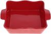 """Форма Augsburg """"Хвиля"""" прямокутна для випічки 29х23х7.5см керамічна (червона)"""