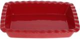 """Форма Augsburg """"Хвиля"""" прямокутна для випічки 30х21.3х6см керамічна (червона)"""