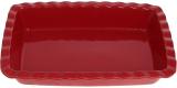 """Форма Augsburg """"Хвиля"""" прямокутна для випічки 33х22.7х6см керамічна (червона)"""