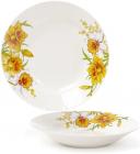 """Набор 6 фарфоровых суповых тарелок """"Нарцисс"""" Ø23см, порционные"""