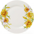 """Набор 6 фарфоровых обеденных тарелок """"Нарцисс"""" Ø27см"""