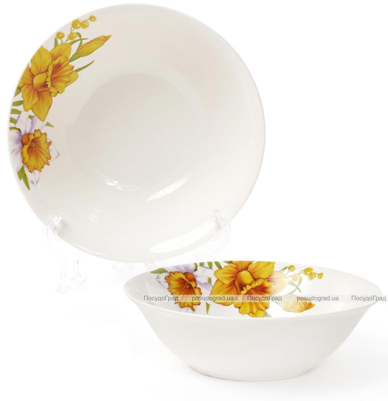 """Набор 6 фарфоровых салатниц """"Нарцисс"""" 650мл Ø17.8см"""