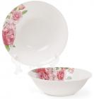 """Набір 6 порцелянових салатниць """"Рожеві троянди"""" 650мл Ø17.8см"""