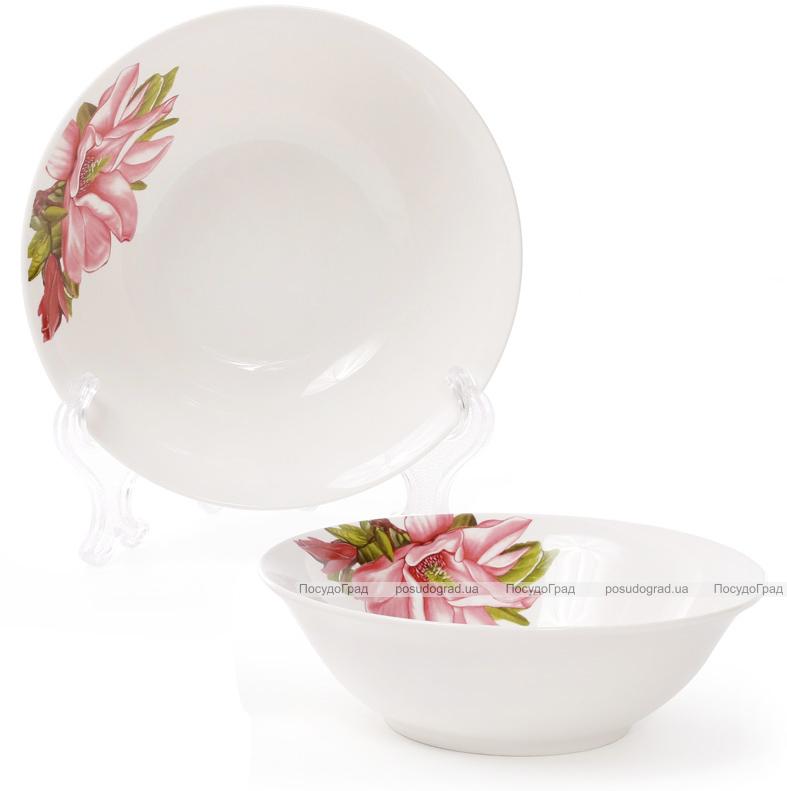 """Набір 6 порцелянових салатниць """"Магнолія"""" 350мл Ø14см"""