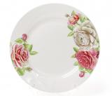 """Набор 6 фарфоровых десертных тарелок """"Чайная роза"""" Ø19см"""