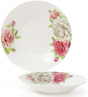"""Набір 6 порцелянових супових тарілок """"Чайна троянда"""" Ø23см, порційні"""
