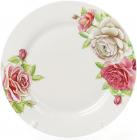 """Набор 6 фарфоровых обеденных тарелок """"Чайная роза"""" Ø27см"""