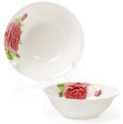 Набор 6 фарфоровых салатниц Чайная роза 350мл Ø14см
