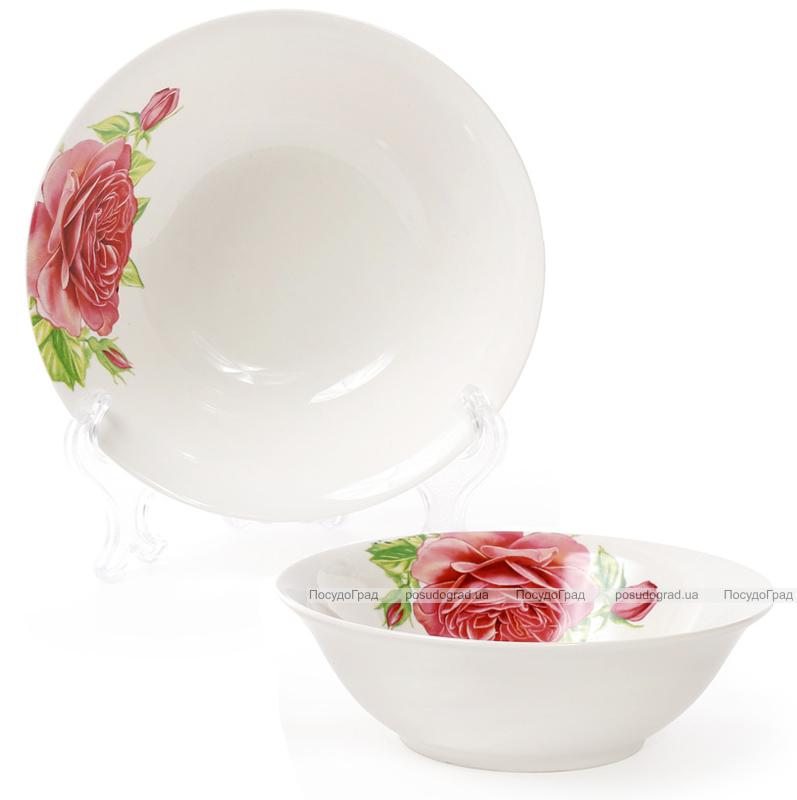 """Набор 6 фарфоровых салатниц """"Чайная роза"""" 350мл Ø14см"""