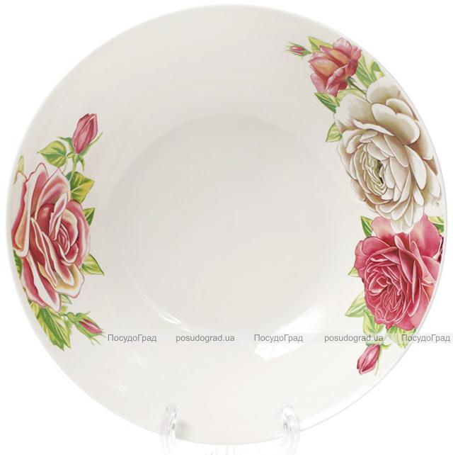 "Салатник порцеляновий ""Чайна троянда"" 1200мл Ø23см"