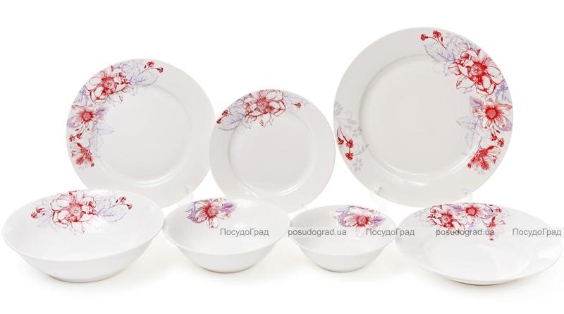 "Набір 6 порцелянових салатниць ""Квіти» 650мл Ø17.8см"